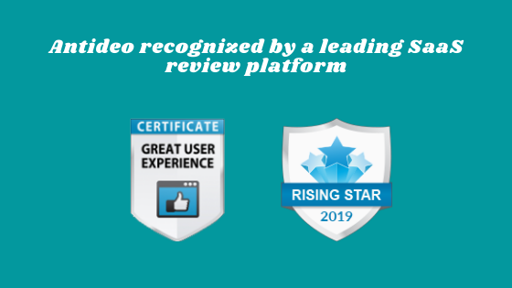Antideo recognized by a leading SaaS review platform