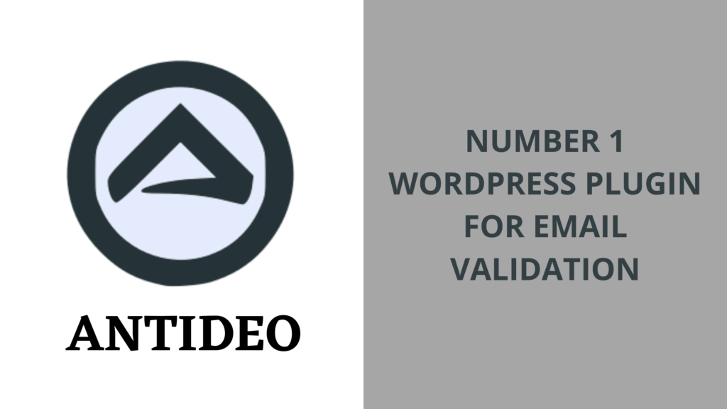Antideo Email Validation WordPress Plugin