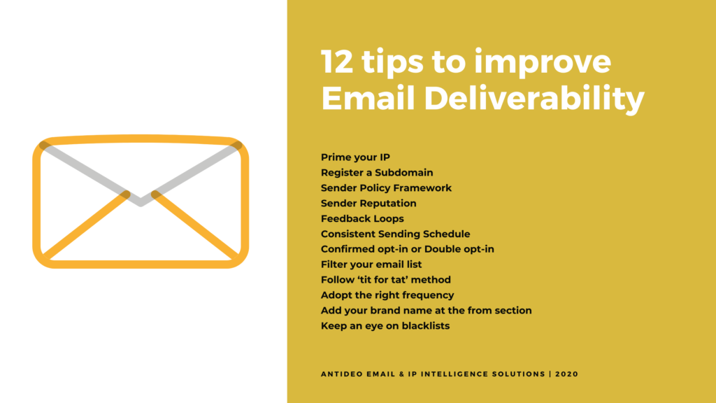 Tips to improve Email Deliverability